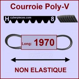 Courroie 1970H8 non élastique