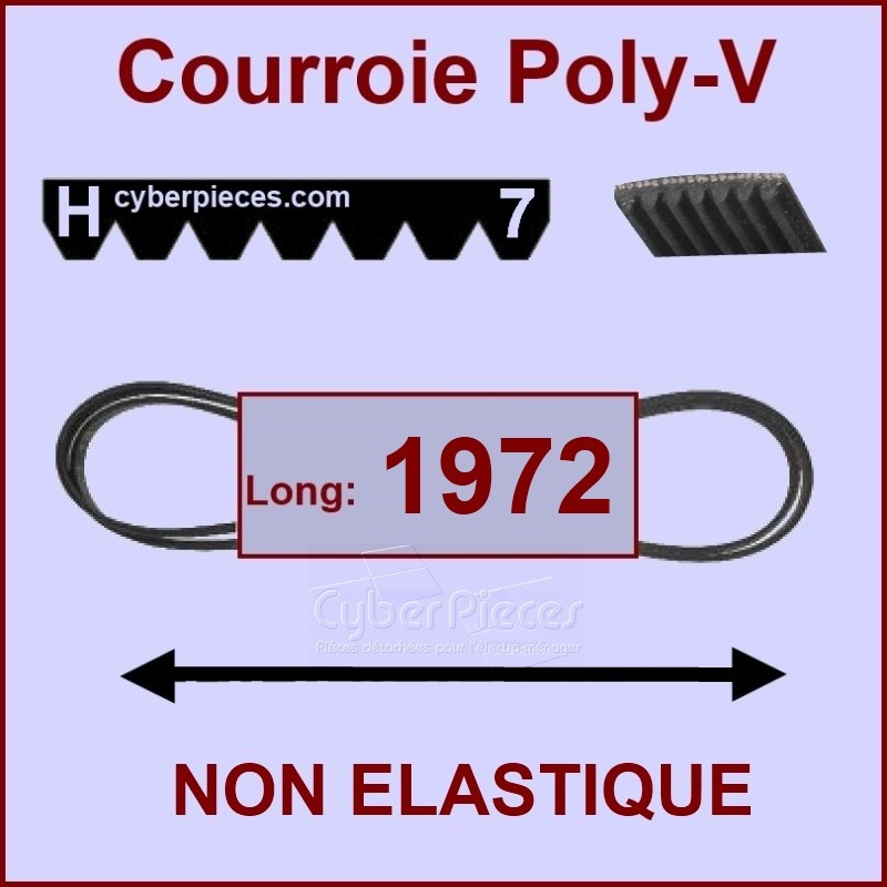Courroie 1972 H7 non élastique