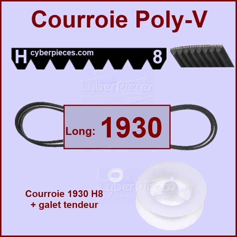 Ensemble courroie 1930h8 + Poulie Tendeur