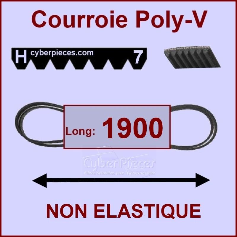 Courroie 1900H7 non élastique
