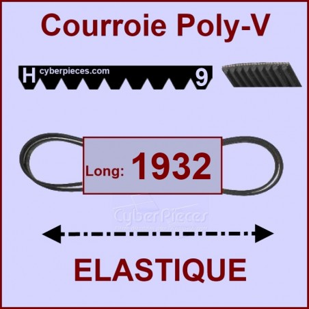 Courroie 1932 H9 - EL- élastique