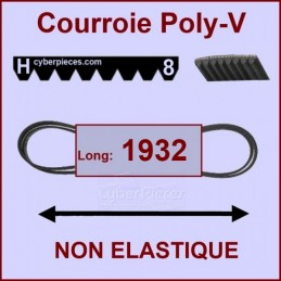 Courroie 1932H8 non élastique