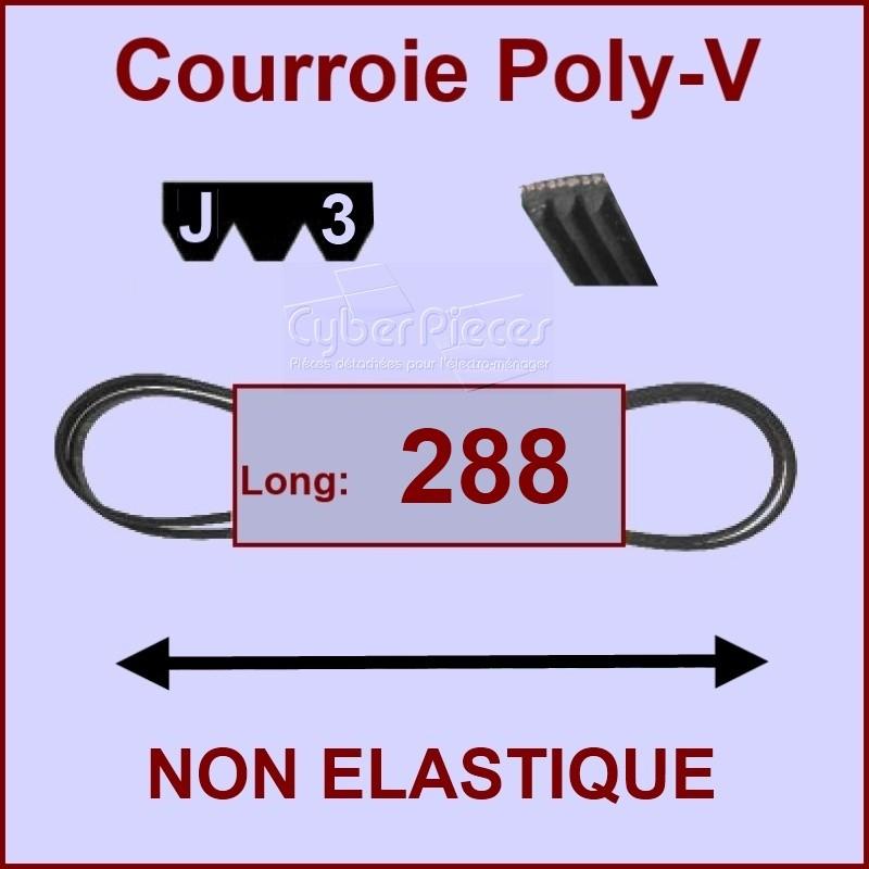 Courroie 288 J3 non élastique