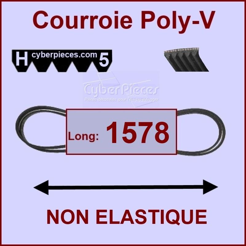 Courroie 1578 H5 non élastique
