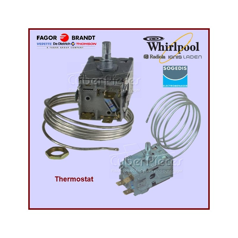 Thermostat A130057 / A130103 / A130599 Whirlpool  481927128788