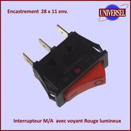 Interrupteur Simple M/A Lumineux CYB-111898