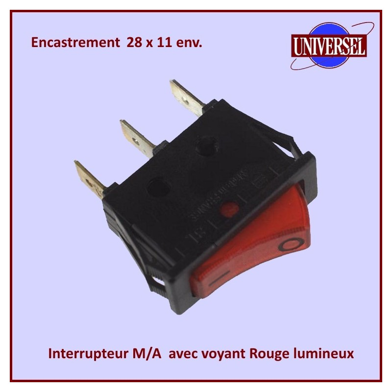 Interrupteur Simple M/A Lumineux