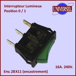 Interrupteur M/A  Lumineux...