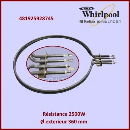 Résistance 2500w Whirlpool 481925928745 CYB-013376