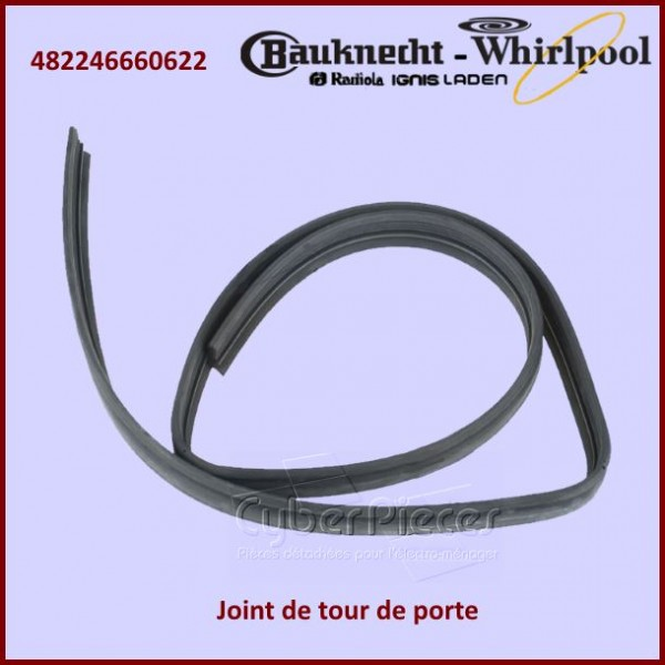 joint tour de porte whirlpool 482246660622 pour joints bas et tour de portes lave vaisselle. Black Bedroom Furniture Sets. Home Design Ideas