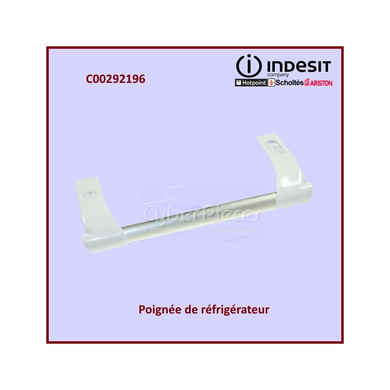 Poignée blanche Indesit C00292196