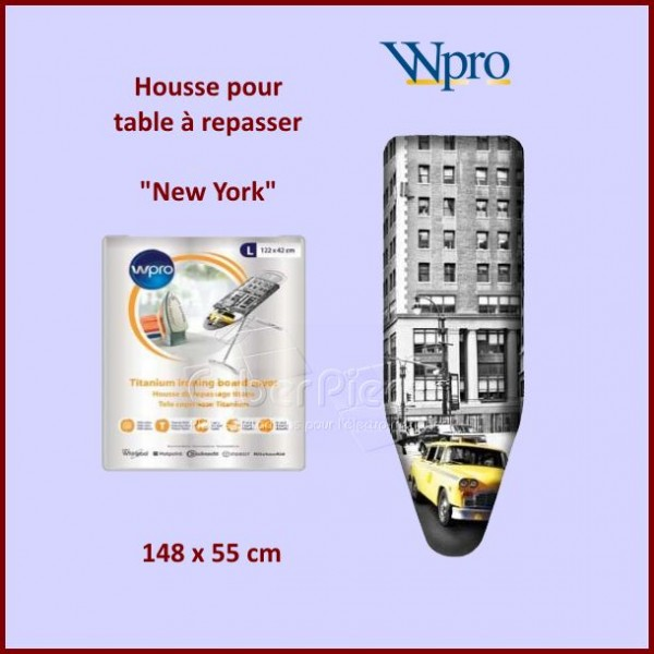Housse de table repasser wpro new york xl pour fer for Housse de table a repasser