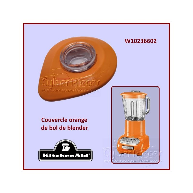 Couvercle Orange de bol Kitchenaid W10236602