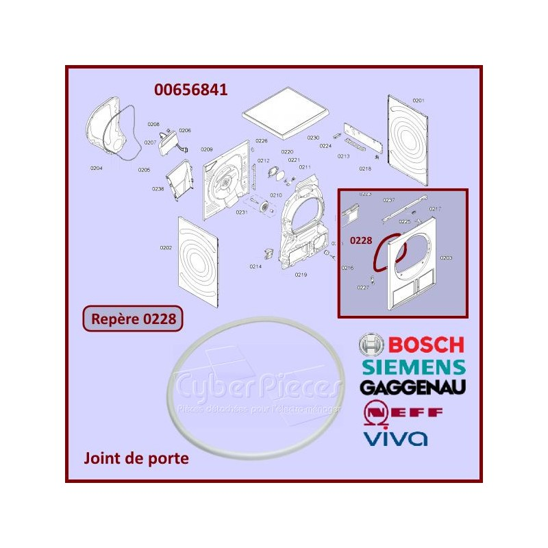 Joint de porte Bosch 00656841