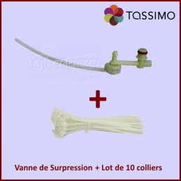 Kit Tassimo, Vanne de surpression 00646688 + colliers Rilsan GA-037921