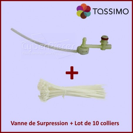 Kit Tassimo, Vanne de surpression 00646688 + colliers Rilsan