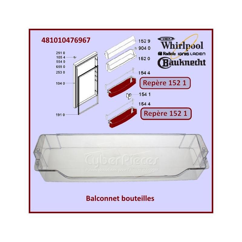 Balconnet Bouteilles Whirlpool 481010476967