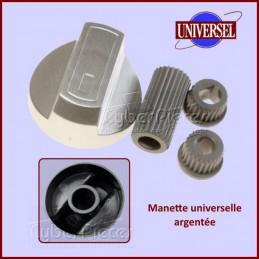 Manettes Argentées + Embouts Universel CYB-029698