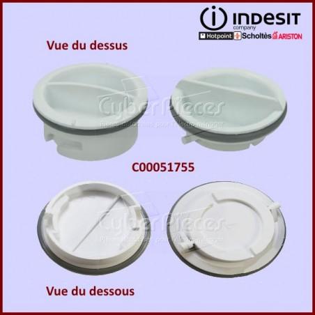 Lot de 2 bouchons de boite à produit Indesit  C00051755