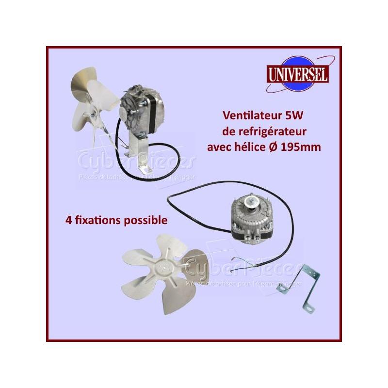 Ventilateur de Refrigerateur 5W 50 Hz Multi Fixations