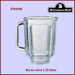 Bol Blender 1.25 l en Verre Kitchenaid 9704200 CYB-104715