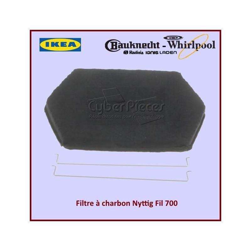 Filtre à charbon Type NYTTIG FIL 700 Whirlpool 480122101068