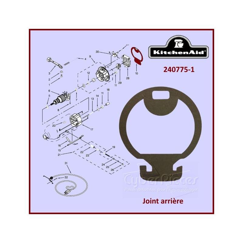 Joint arrière Kitchenaid 240775-1