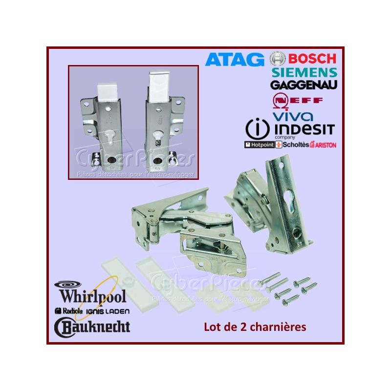 Kit de 2 charnières Whirlpool  481231018626