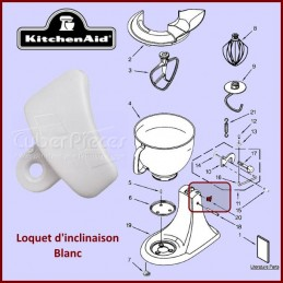 Loquet blanc Kitchenaid...