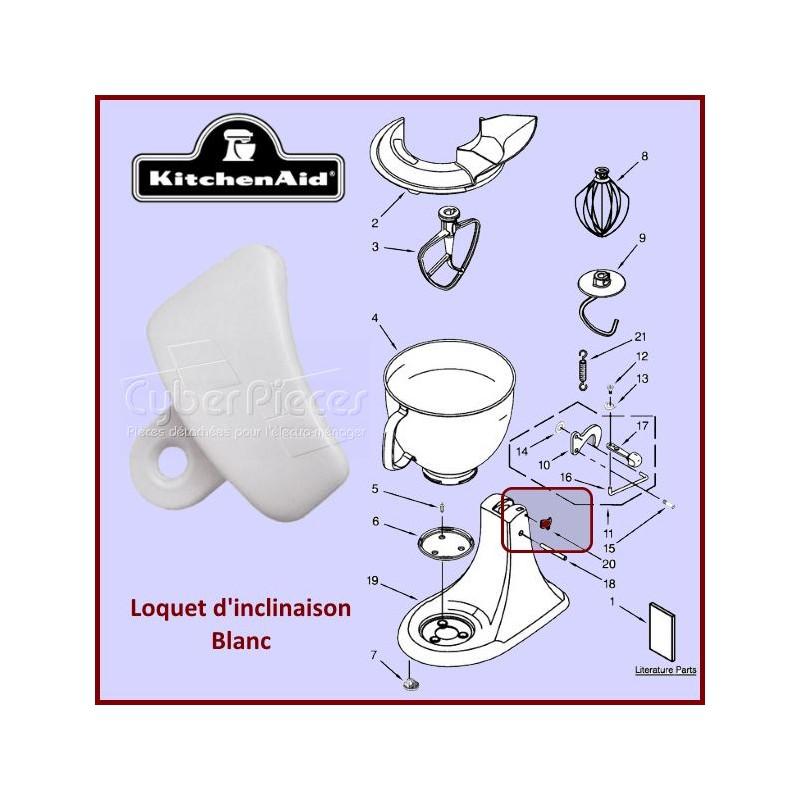 Loquet blanc Kitchenaid 3184262