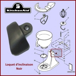 Loquet noir Kitchenaid 3184264 CYB-103763