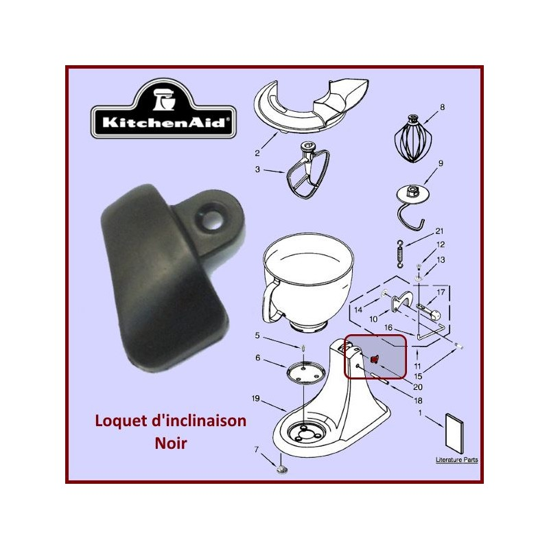 Loquet noir Kitchenaid 3184264