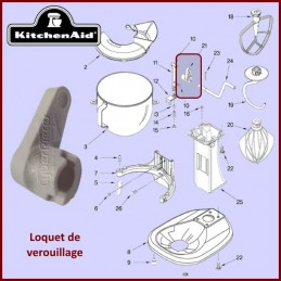 Bras de verrouillage de bol Kitchenaid 241764 CYB-072427