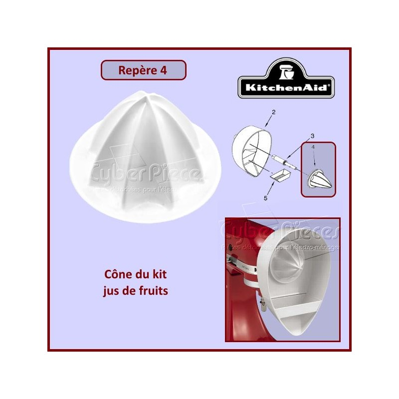 Cone du kit jus de fruits JE pour Kitchenaid 82962