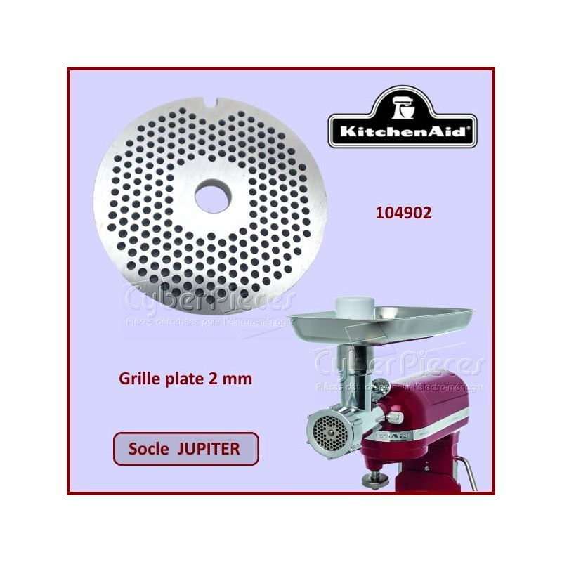 Grille plate 2mm Jupiter kitchenaid 104902