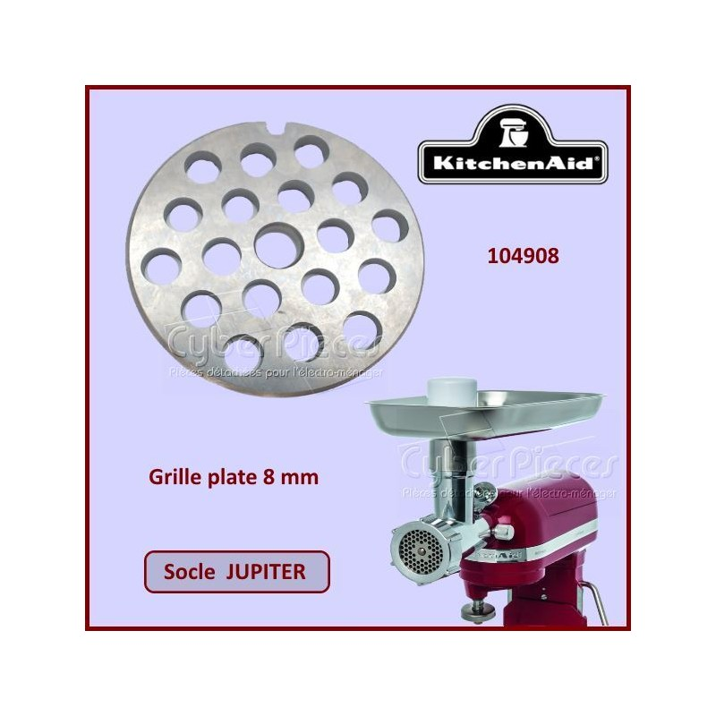 Grille plate 8mm Jupiter Kitchenaid 104908
