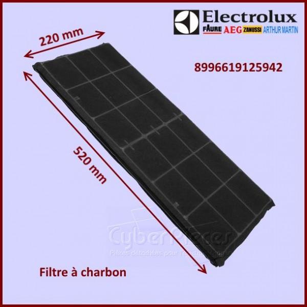 filtre charbon 220x520mm electrolux 8996619125942 pour filtres a charbons hottes cuisson. Black Bedroom Furniture Sets. Home Design Ideas
