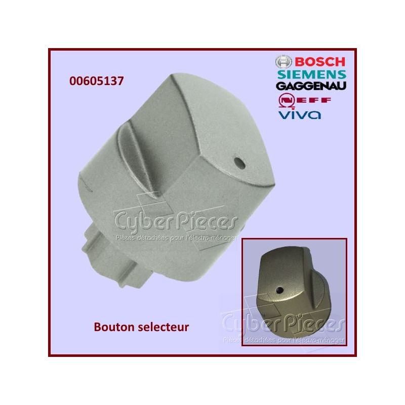 bouton selecteur plaque de cuisson bosch 00605137 pour. Black Bedroom Furniture Sets. Home Design Ideas