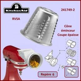 Cône rapeur Epais RVSA Kitchenaid 241749-2 CYB-117227