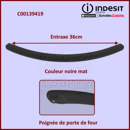 Poignée Noire Indesit C00139419