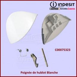 Poignée blanche de hublot Indesit C00075323 CYB-007344