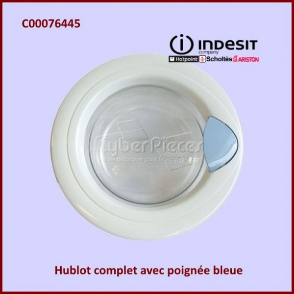 Hublot complet Indesit C00076445