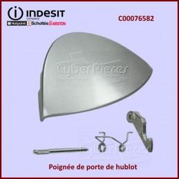 Poignée de hublot Argentée Indesit C00076583 CYB-050340