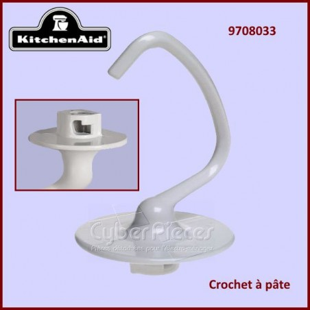 Crochet à pâte blanc Kitchenaid 970833