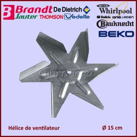 Hélice ventilateur de four D.15cm Brandt 74X6900