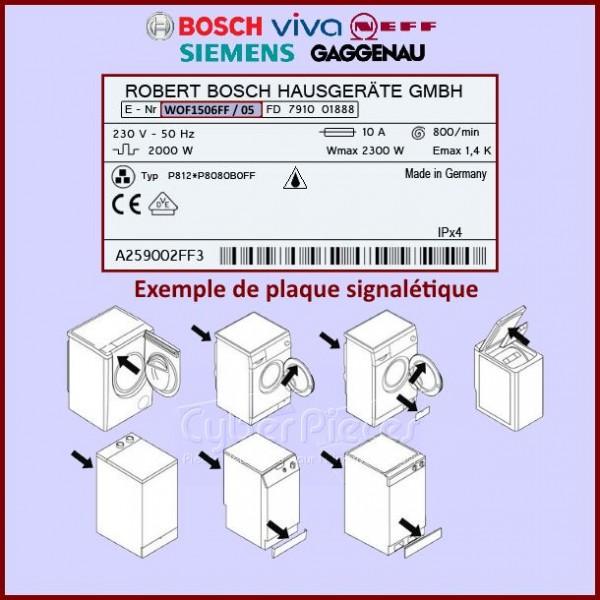 module vierge non programm bosch 11002817 pour modules electroniques machine a laver lavage. Black Bedroom Furniture Sets. Home Design Ideas