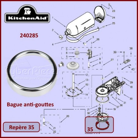 Bague anti-gouttes Kitchenaid 240285