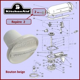 Manette beige Kitchenaid 242765-5 CYB-178907