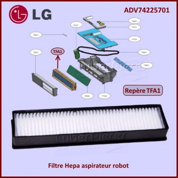 Filtre Hepa aspirateur robot LG ADV74225701