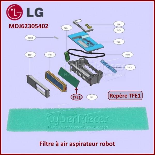 Filtre air aspirateur robot LG MDJ62305402